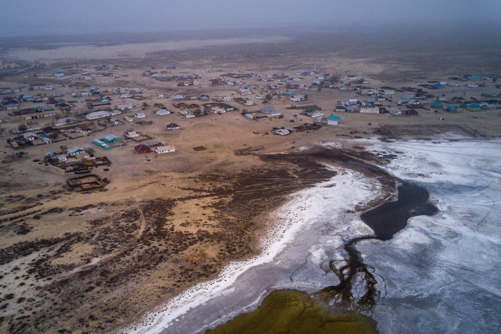 Bugun, Kazakhstan, a village founded on the shore of the Aral Sea, is now about nine miles away from it.CreditSergey Ponomarev for The New York Times